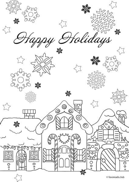 happy holidays coloring pages happy holidays favoreads original