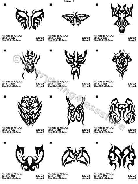 4x4 tattoo designs 48 tattoos 4x4 volume 15 mega embroidery designs on cd ebay
