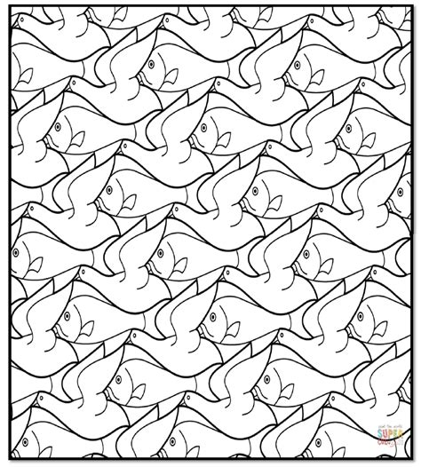 printable animal tessellation patterns you searched for escher tessellation coloring pages fun