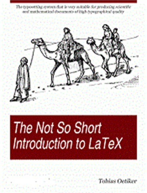 latex tutorial short the not so short introduction to latex 2e free computer