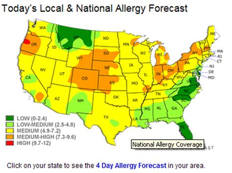allergy map pollen you up weathertrends360