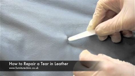 repairing  tear  leather youtube