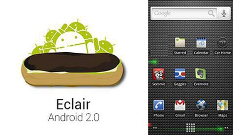 android eclair a complete list of android version names and features android names list