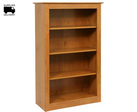 gardens wooden bookcase 4 shelf h1230xw800xd340mm