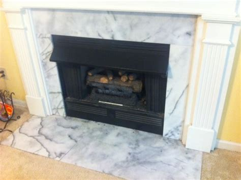 replacing marble hearth and marble surround on fireplace