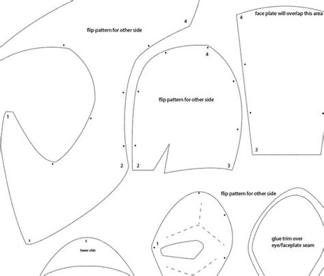 Foam Helmet Template How To Make A Cheap Foam Costume Helmet Template Jfcustoms Foam Files Free Foam Templates