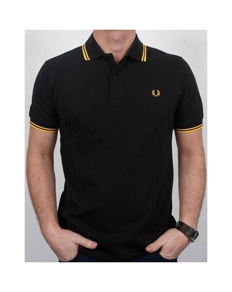 Polo Shirt Fred Perry fred perry tipped polo shirt black yellow fred