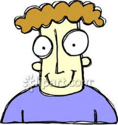 big hair cartoon clip art of person with big eyes clipart