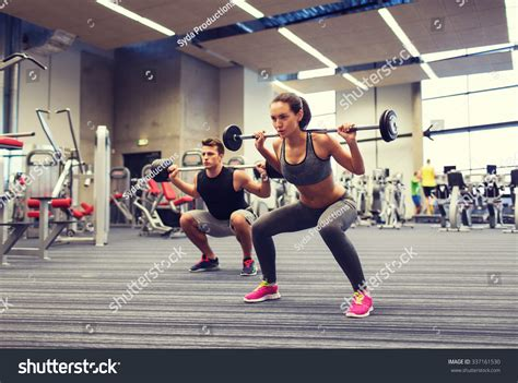 Barbel Sport sport bodybuilding lifestyle concept stock photo 337161530