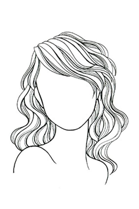 medium length hairstyle sketches best haircut for your face styles by hair type