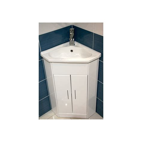 Compact Bow Front White Gloss Bathroom Vanity Unit And Bathroom Sink Furniture