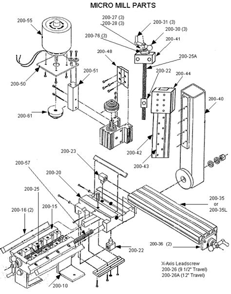 milling machine parts diagram jet milling machine parts diagram jet free engine image