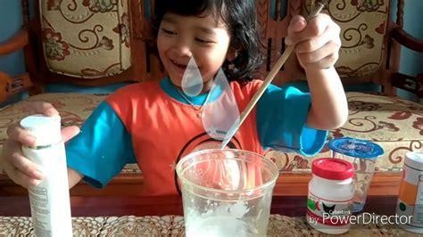 cara membuat slime ala eyang cara membuat slime ala aleeza tk b buah hati kkps youtube