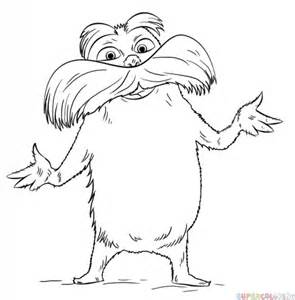 the lorax coloring pages how to draw the lorax step by step drawing tutorials