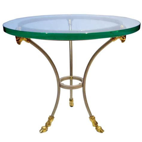 small brass table ls 1960s neoclassical stainless steel and brass small