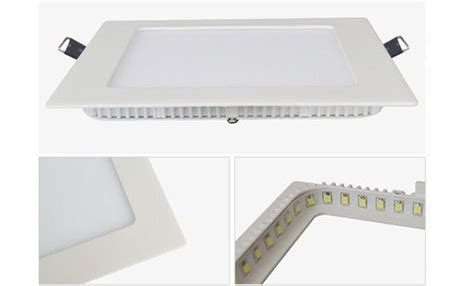 15 Watt Bright Led Flat Panel Light Fixtures Aluminum