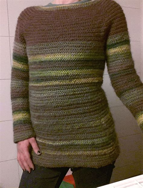 viking knitting with yarn needlebound nalbound sweater made with multi coloured