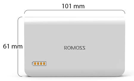 Powerbank Romoss 3 6000 Mah Limited romoss 3 6000 mah powerbank white price review and buy in dubai abu dhabi and rest of