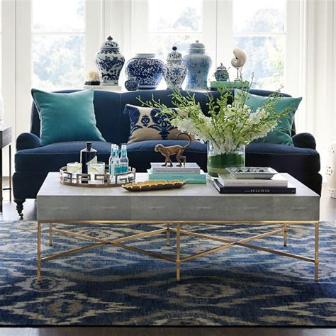 shagreen coffee table faux shagreen coffee table williams sonoma