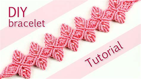 Macrame Tutorial - macram 233 flower petal bracelet tutorial