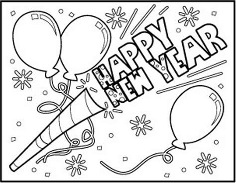 color for happy happy new year coloring pages coloring home