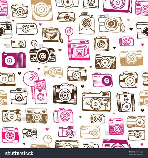 camera wallpaper pattern seamless photo camera background pattern vector stock