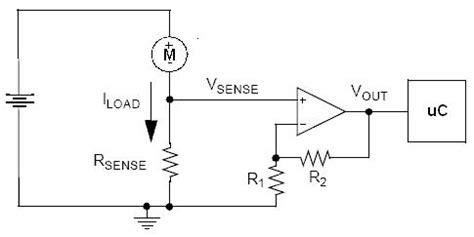 current sense resistor formula op how to sense current being used by motors electrical engineering stack exchange