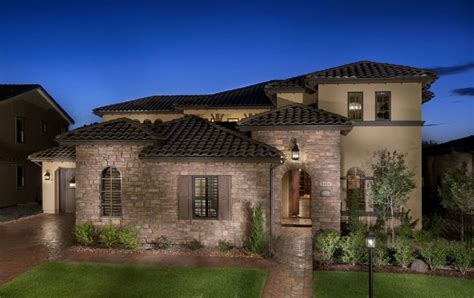 Mediterranean Home Plans With Photos by Mediterranean Tuscan Style Home House Mediterranean