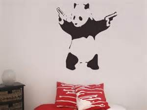banksy panda wall sticker wall stickers from fads banksy panda wall stickers