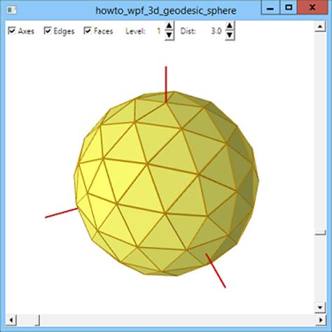build a geodesic sphere with wpf and c c helperc helper