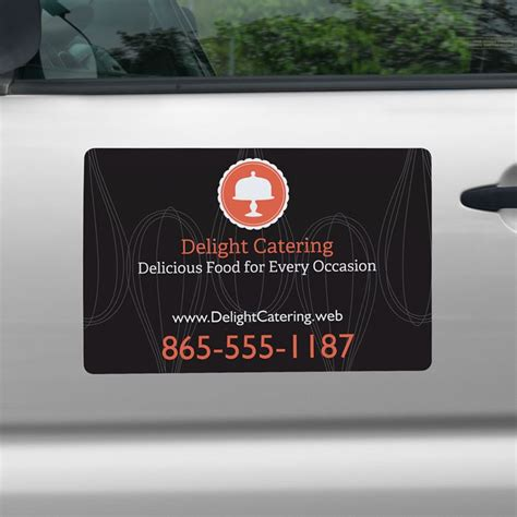 car show window card template car magnets magnetic car signs vistaprint