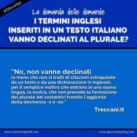 come si scrive doccia al plurale termini inglesi in italiano si usa il plurale