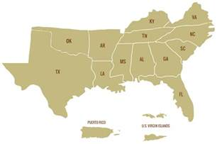 Map Of Southern United States by Sgsf