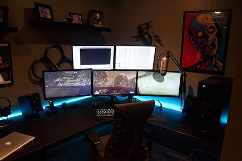 awesome gamer setups cool computer setups and gaming setups