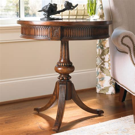 livingroom end tables furniture living room accents accent table with ornate pedestal and spider base