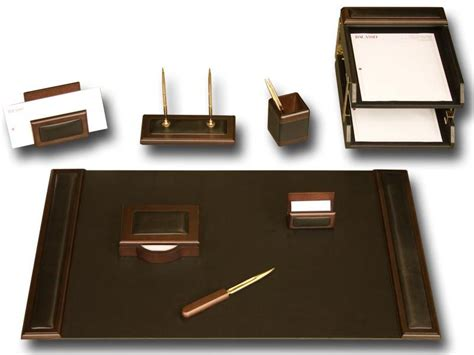 office desk accessories set walnut leather 10 leather desk set executive