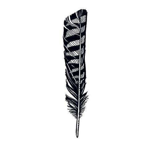 tattly designy temporary tattoos hawk feather by jen