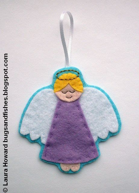 pattern felt angel bugs and fishes by lupin how to felt angel ornament 1