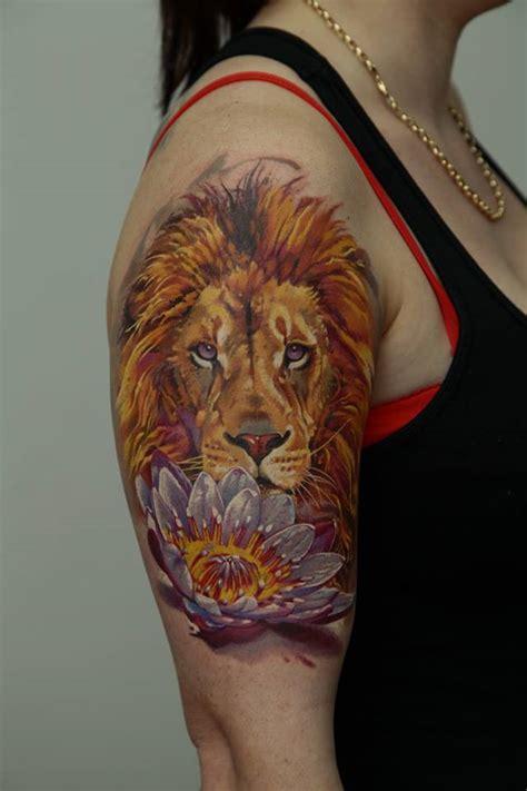 tattoo lion flower 36 mandala lotus tattoos ideas