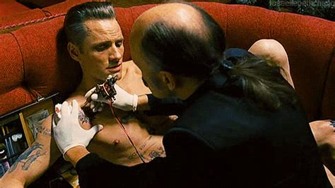 viggo mortensen tattoos david cronenberg gif find on giphy