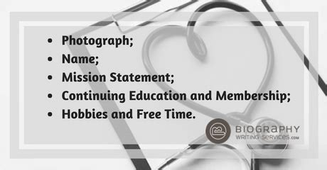 dentist biography template writing a dentist biography