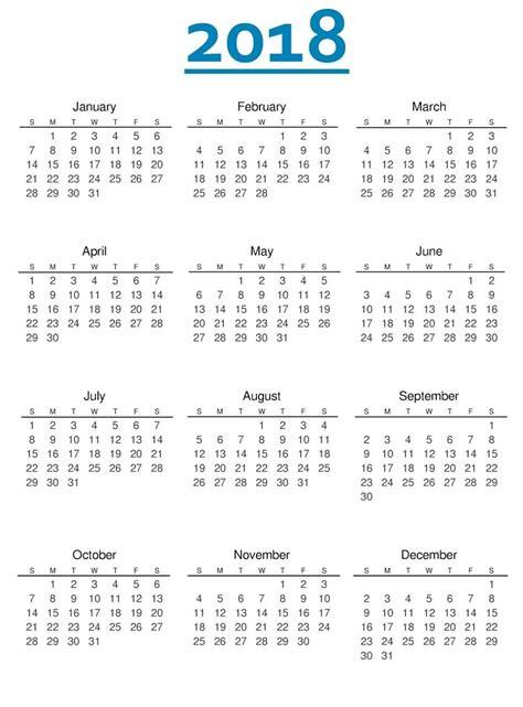 8 2018 printable calendar pattern resume