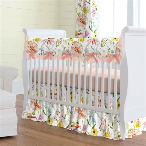 baby crib bedding sets springtime floral crib bedding carousel designs