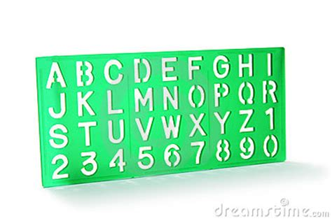 alphabet stencil stock photos image 10466223