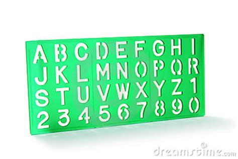 plastic letter templates alphabet stencil stock photos image 10466223