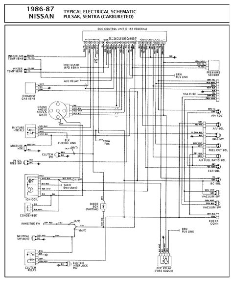 nissan nissan sentra carbureted pcm wiring diagram gif