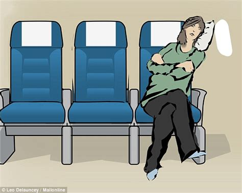 most comfortable way to sleep on a plane the 10 best positions for sleeping on a plane daily mail
