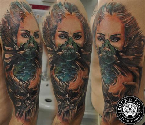 cool looking tattoos colored cool looking shoulder of creepy with
