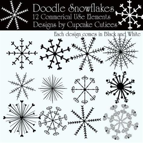snowflake doodle elements doodles snowflakes christmas