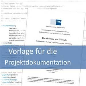 Word Vorlage It Dokumentation Vorlage F 252 R Die Projektdokumentation Fachinformatiker Anwendungsentwicklung